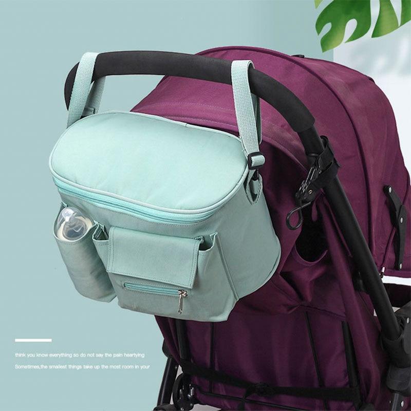 Baby Stroller Buggy Hanging Bag Organizer Feeding Bottle Water Holder Diaper Bag
