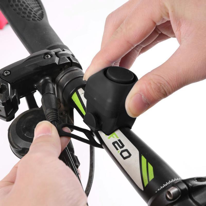 Loud Volume Electric Bicycle Bell ABS Fixed Gear Folding Bike Horns MTB Bike Handlebar Alarm Bells Cycling Supplies