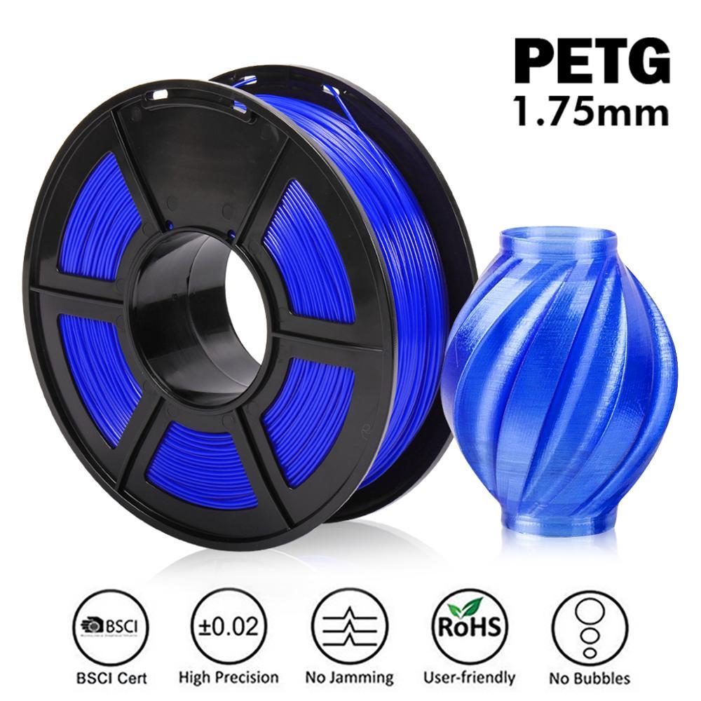New Arrive PETG 3D Printer Filament 1.75mm PETG 1KG Spool 100% No Bubble With Vacuum Packaging Support Wholesale