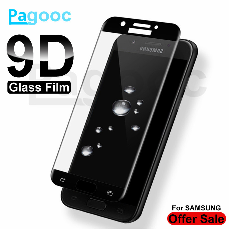 9D Protective Glass on For <font><b>Samsung</b></font> Galaxy A3 A5 A7 J3 J5 J7 2016 2017 <font><b>Screen</b></font> <font><b>Protector</b></font> For <font><b>Samsung</b></font> <font><b>S7</b></font> Tempered Glass <font><b>Film</b></font> Case image