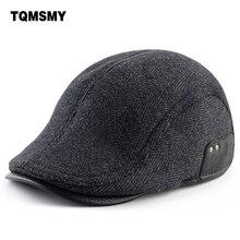 Hats Caps Berets Peaked-Cap Flat-Hat Woolen Winter Thick Men's Casual for Warm Gorro