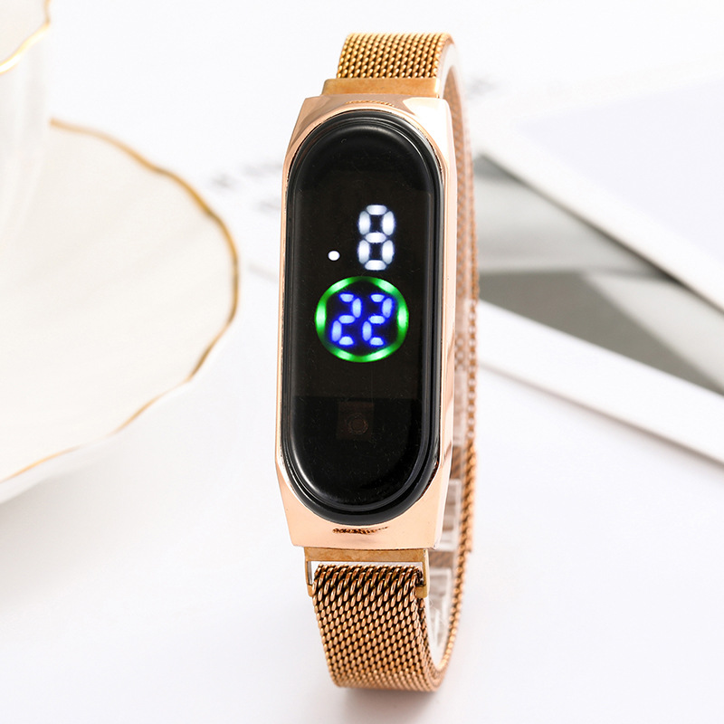 Luxury Ladies Watch Women Touch Screen LED Watches New Fashion Women Magnetic Electronic Clock Digital Wristwatches Feminino 2