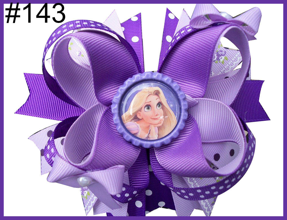 Free Shipping 2017 Newest 30pcs 5.5'' Inspired Hair Bows Popular Character Hair Bow With Lined Clips Bouqiue Girl Hair Bows