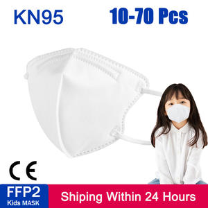 Face-Masks Masque Mascarillas FFP2 PM2.5 Anti-Dust Girl Kn95 Kids And 10-70pcs 5-Lay