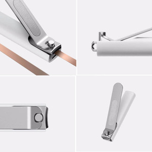 Image 5 - Original Xiaomi Mijia Stainless Steel Nail Clippers With Anti splash Cover Trimmer Pedicure Care Professional File Nail Clip