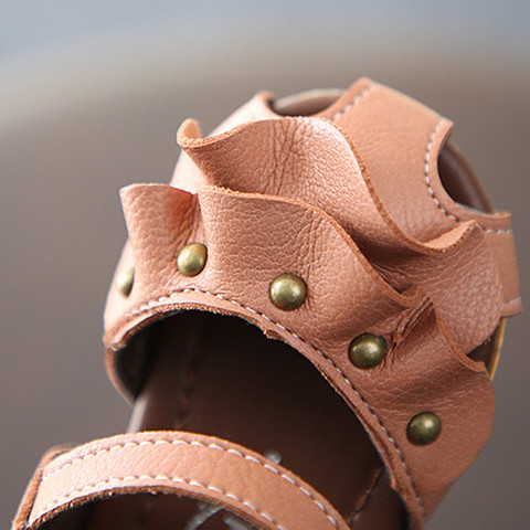 novo baotou oco meninas princesa sapatos femininos