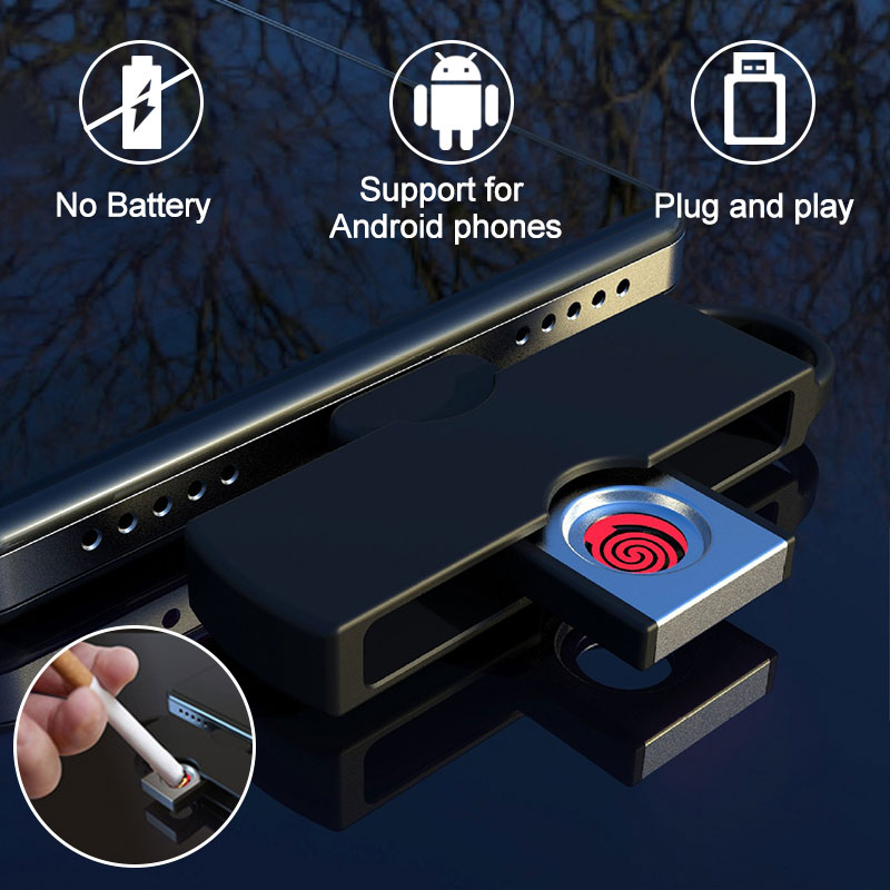 Battery-free Cigarette Lighter Connected To Mobile Phone Plug And Play Mini Aircraft On Board Mini Lighter