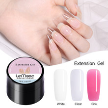 Lemooc 5G Extension Gel Semi-Transparante Nail Verlengen Lijm Nail Art Uv Gebouw Gel Nail Gel Polish Voor nail Forms Acryl Tips(China)