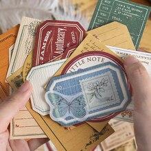 Journamm 30 stücke Vintage Rose Anlage Daisy Retro Karte Kraft Karten für Deco Schreibwaren LOMO Karten Schreibwaren Notepad Sticky Notes