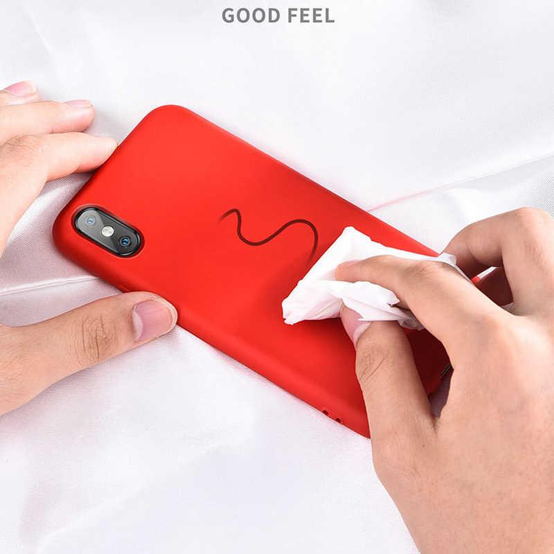 מלא כיסוי סיליקון עם לוגו מקרה עבור iPhone 6 6s 7 8 בתוספת SE 2020 חזרה כיסוי עבור iPhone 11 פרו מקסימום X XR XS XSMax טלפון מקרה