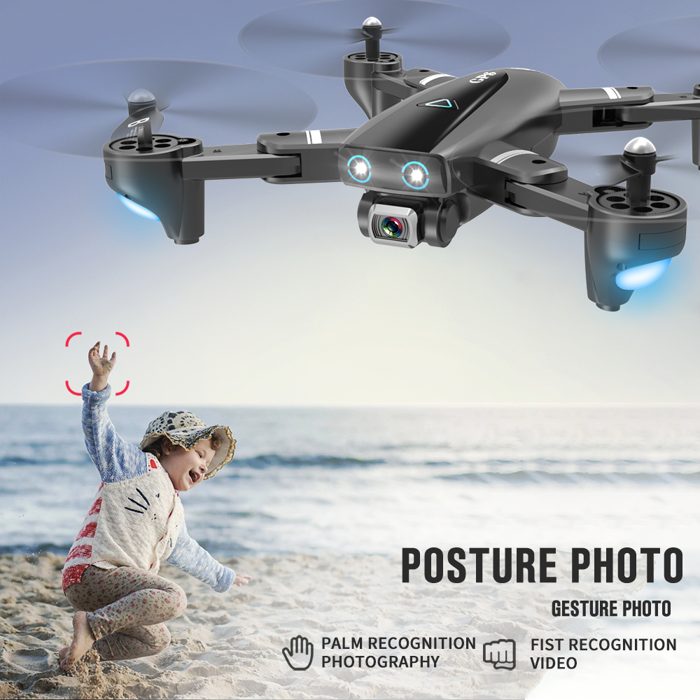 S167 GPS Drone with Camera 4K 5G WIFI FPV Camera Drone Way point Flying Gesture Photos Video Foldable RC Quadcopter Helicopters in RC Helicopters from Toys Hobbies