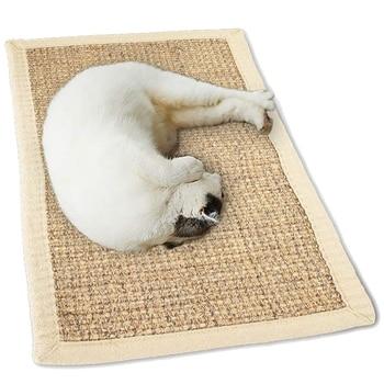 Tapete de gato Sisal tapete para rascar grandes garras de molienda de Sisal grueso Natural para gatos de mascotas antideslizantes rayaduras alfombra de dormir sofá Co
