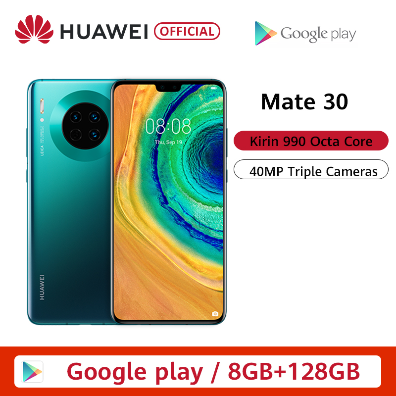 Original Huawei Mate 30 Smartphone <font><b>40MP</b></font> Triple Hinten Kameras 6.62 ''Full Screen Kirin 990 27W Drahtlose QC image