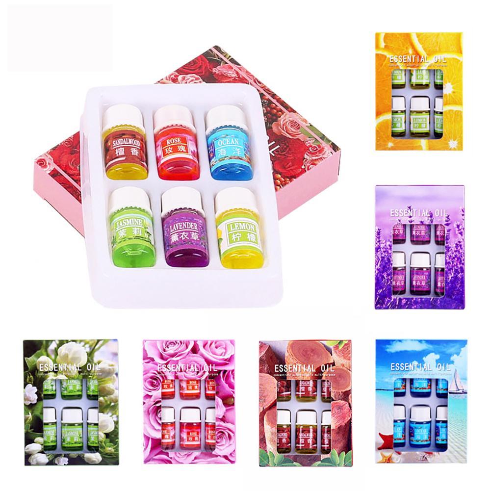 6Pcs 3ml Rose/Lavender/Ocean Natural Fragrance Essential Oil For Aroma Diffuser Home Decor