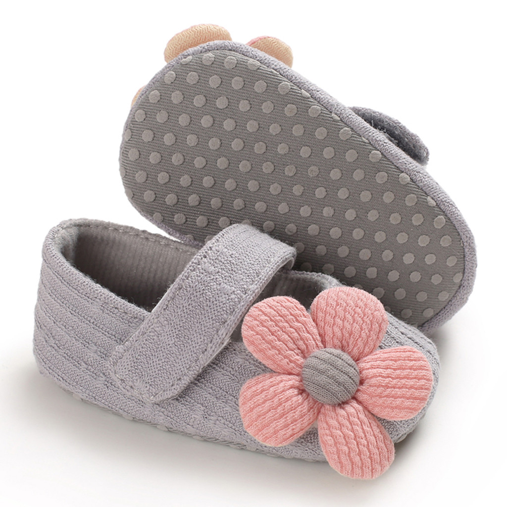 Baby Girls Shoes Comfortable Mixed Colors Flower Fashion First Walkers Kid Shoes