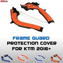 2016 2017 X Kavrama Çerçeve Guard koruma kapağı Için KTM SX125 SX150 SXF250 SXF350 SXF450 Dirt Bike MX Motocross ücretsiz Kargo