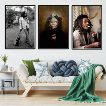 Bob Marley Singer Canvas Poster and Cuadros Printed on Canvas 2