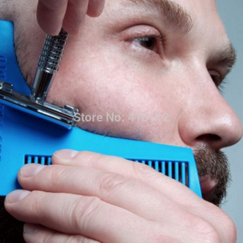 Perfect Lines Comb Beard Shaping Tool Sex Man Gentleman Beard Template Comb Brush Tool,Shaving Brush
