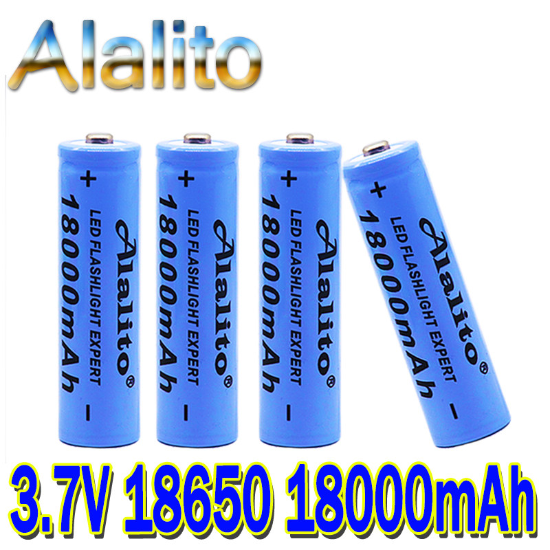 2020 new 18650 Li-Ion battery 18000mah rechargeable battery 3.7V for LED flashlight flashlight or electronic devices batteria