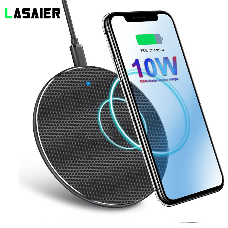 10W Fast Wireless Charger For IPhone 11 Pro X/XS Max XR 8 Plus QI Wireless Charger  Charging Receiver Pad For Samsung S8 S9