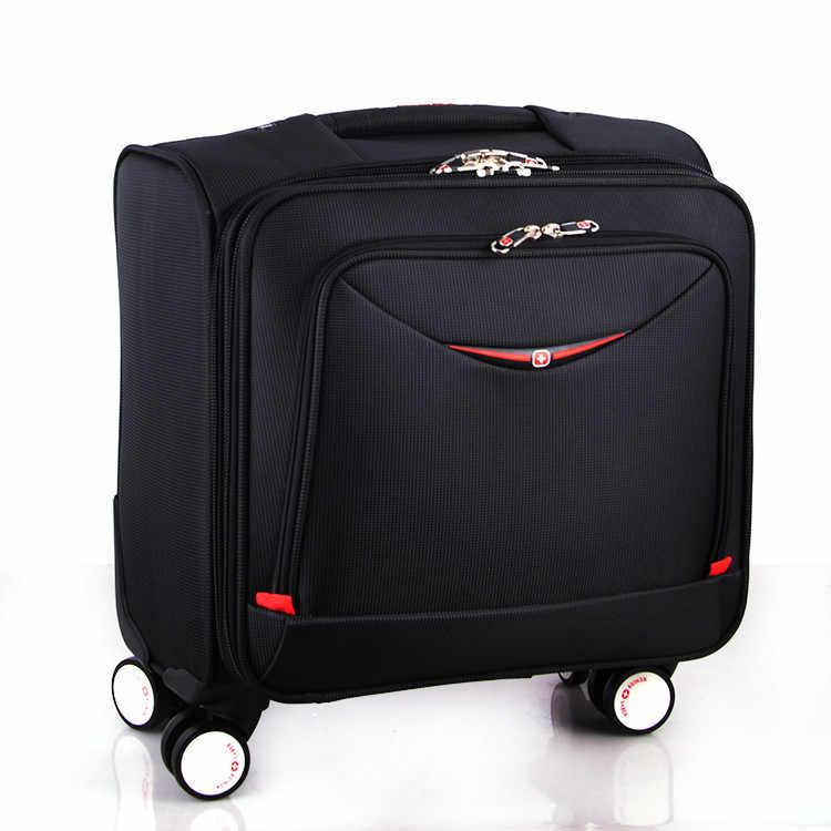 2019 yaz yeni stil İsviçre çakısı iş yatılı çanta Oxford bez bagaj evrensel tekerlek 18 inç seyahat bagaj