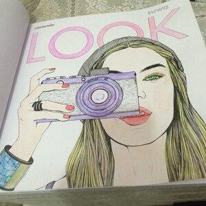 Image 2 - 96 דפים אופנה לחפש צביעה ספרים למבוגרים ילדי בנות antistress אמנות ציור ציור סוד גן צביעת ספר Libros