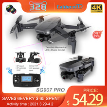 Gps-Drone Quadcopter Gimbal Aerial 2-Axis WIFI Dual-Camera Professional Sg907pro RC Foldable