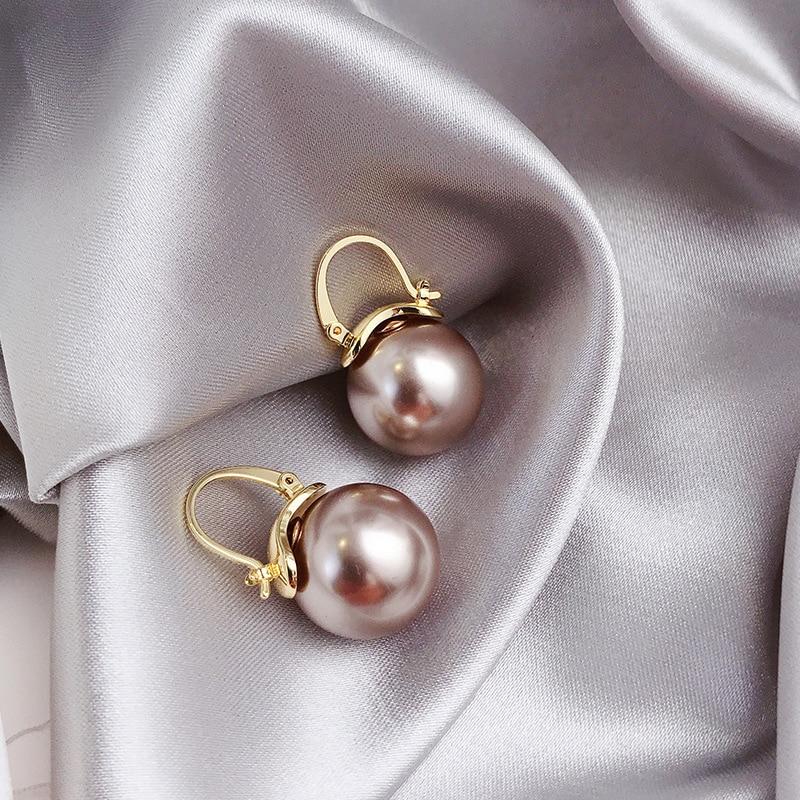 New Fashion Fresh Sweet Pearl Temperament Drop Earrings Contracted Geometric Joker Elegant Lovely Women Earrings