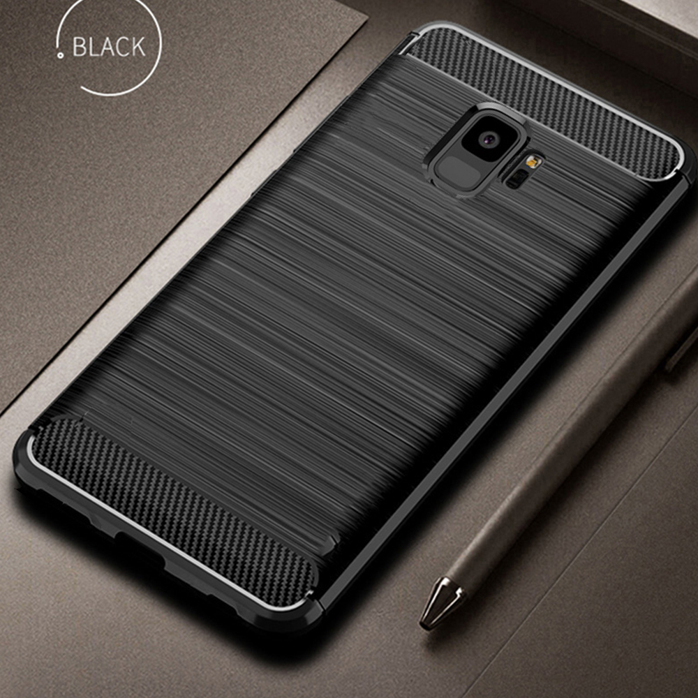 For <font><b>Samsung</b></font> Galaxy <font><b>S9</b></font> S 9 Plus <font><b>Case</b></font> Carbon fiber Cover Full Protection Phone <font><b>Case</b></font> For <font><b>Samsung</b></font> <font><b>S9</b></font>+ Cover <font><b>Shockproof</b></font> Bumper Shell image