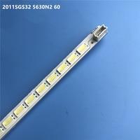 """تستخدم LED شريط إضاءة خلفي 60 مصباح ل هايسنس 32 """"TV زلاجات 2011SGS32 5630N2 60 LED32HS11LJ64 03597A FW201281A0-في حبات الإضاءة من مصابيح وإضاءات على"""