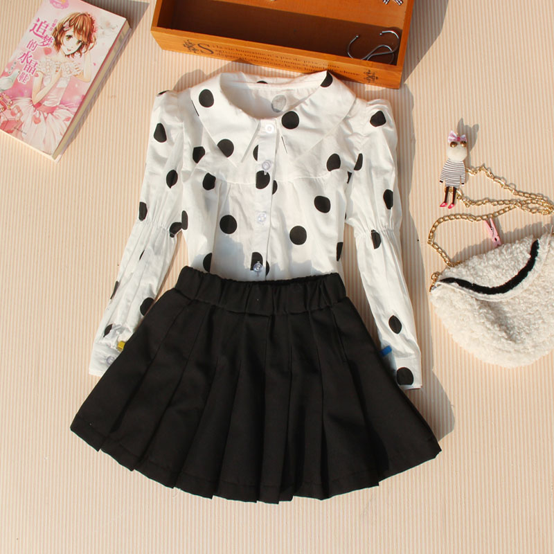 Kids Clothes Girls 8 To 12 Girls Shirts Spring 2021 Children Long Sleeve Blouses Turn-down Collar Button Blouse for Teenage