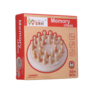 Image 4 - Wooden Memory Stick Chess Game Fun Block Board Game Educational Color Cognitive Ability Family Toys Kids party game for kids