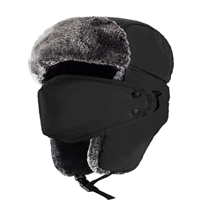 Winter Hat Ushanka-Masks Cold-Earmuff WOMEN'S Thick Warm Neck-Gaiter Cycling Wind-Resistant