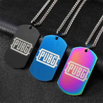 Hot New Anime Game PUBG Necklace Cosplay Costumes Badge Stainless Steel Pendant Dog Tag Necklace Metal Artware Gift game pubg playerunknown s battlegrounds cosplay costumes props first aid packet pen camouflage bag
