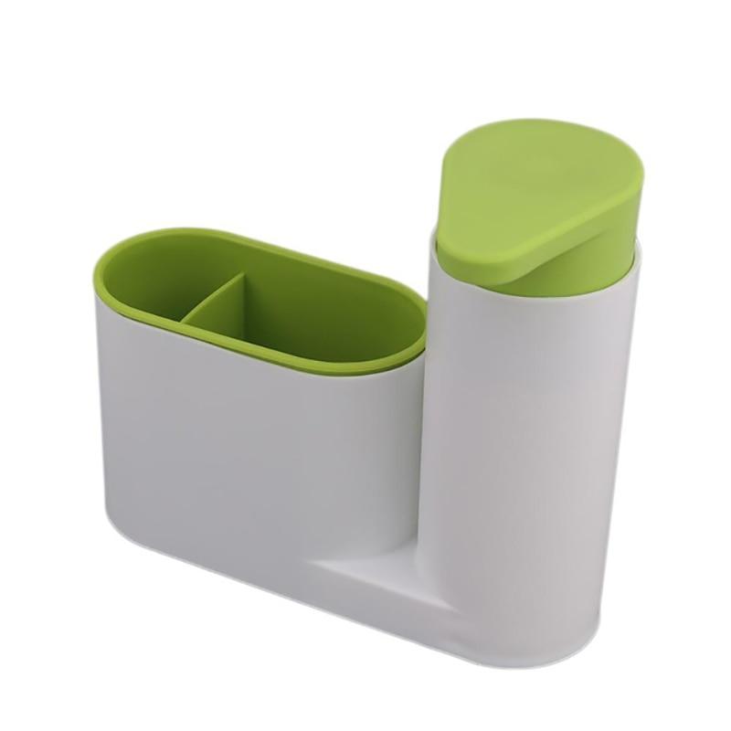 Диспенсер для кухонного мыла с держателем для губки контейнер для жидкого моющего средства для кухни|Дозаторы жидкого мыла|   | АлиЭкспресс