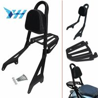 Backrest Sissy Bar Luggage Rack Cushion Pad for Yamaha Star Bolt XV950 XVS950 C R Spec