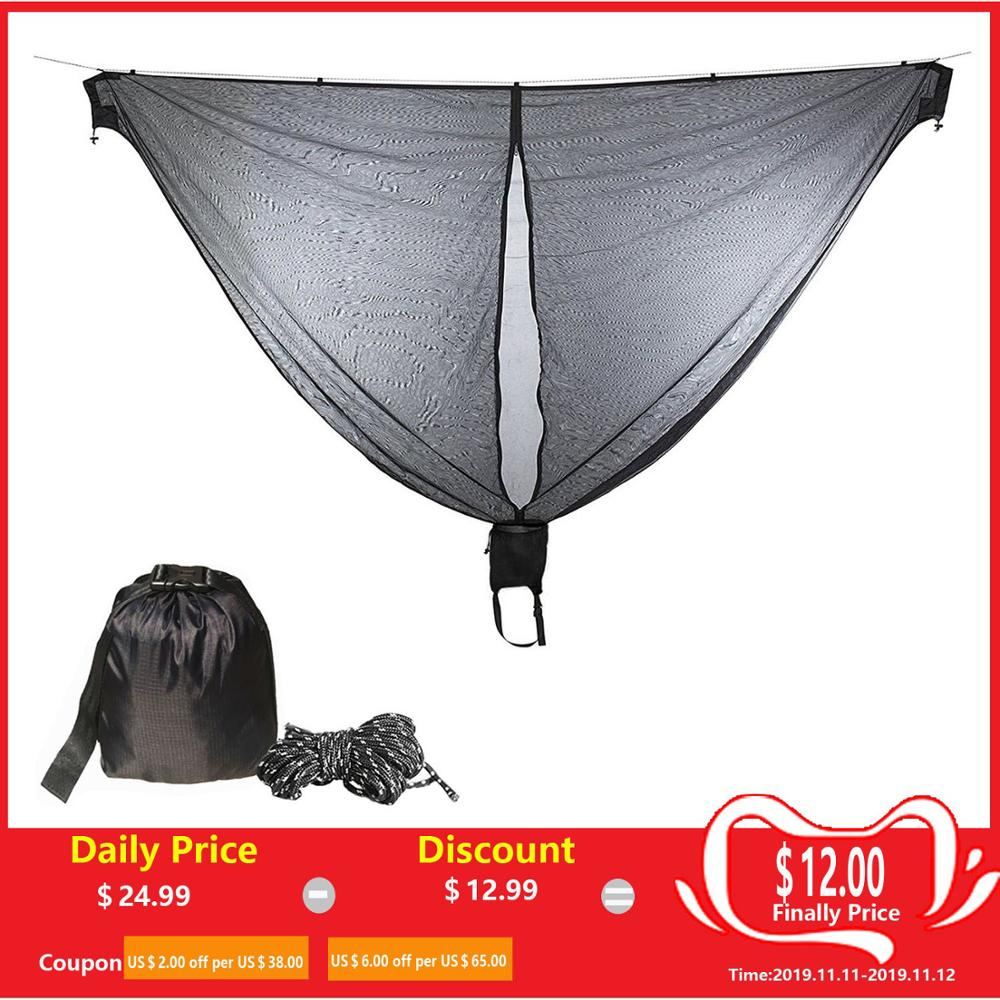 Portable Hammock Mosquito Net Camping Survival Garden  Hunting Leisure Hamac Travel Double Person Hamak