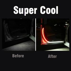 Image 4 - Okeen Cửa Xe Ô Tô Hoan Nghênh Bạn Đã Dải Sáng Kiểu Dáng Xe Tự Động Nhấp Nháy Nhấp Nháy Môi Trường Xung Quanh Bầu Không Khí Đèn An Toàn LED Mở Đèn Cảnh Báo
