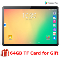 New Global 10 Inch tablet Wifi Android 7.0 Quad Core 1280X800 IPS 2.5D Touch Screen RAM 2GB ROM 32GB GPS tablet 10.1 +Gifts