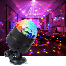 LED Car Bar Stage Light Mini Disco Ball Lights USB RGB Sound Lighting Activated DJ Projector Party Lights For Car Home KTV