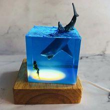 IN STOCK! SETT STUDIO Shark Diver Decoration Fish Ocean Animal Collector Luminous Toy Creative Gift Adult Handmade Figure Model