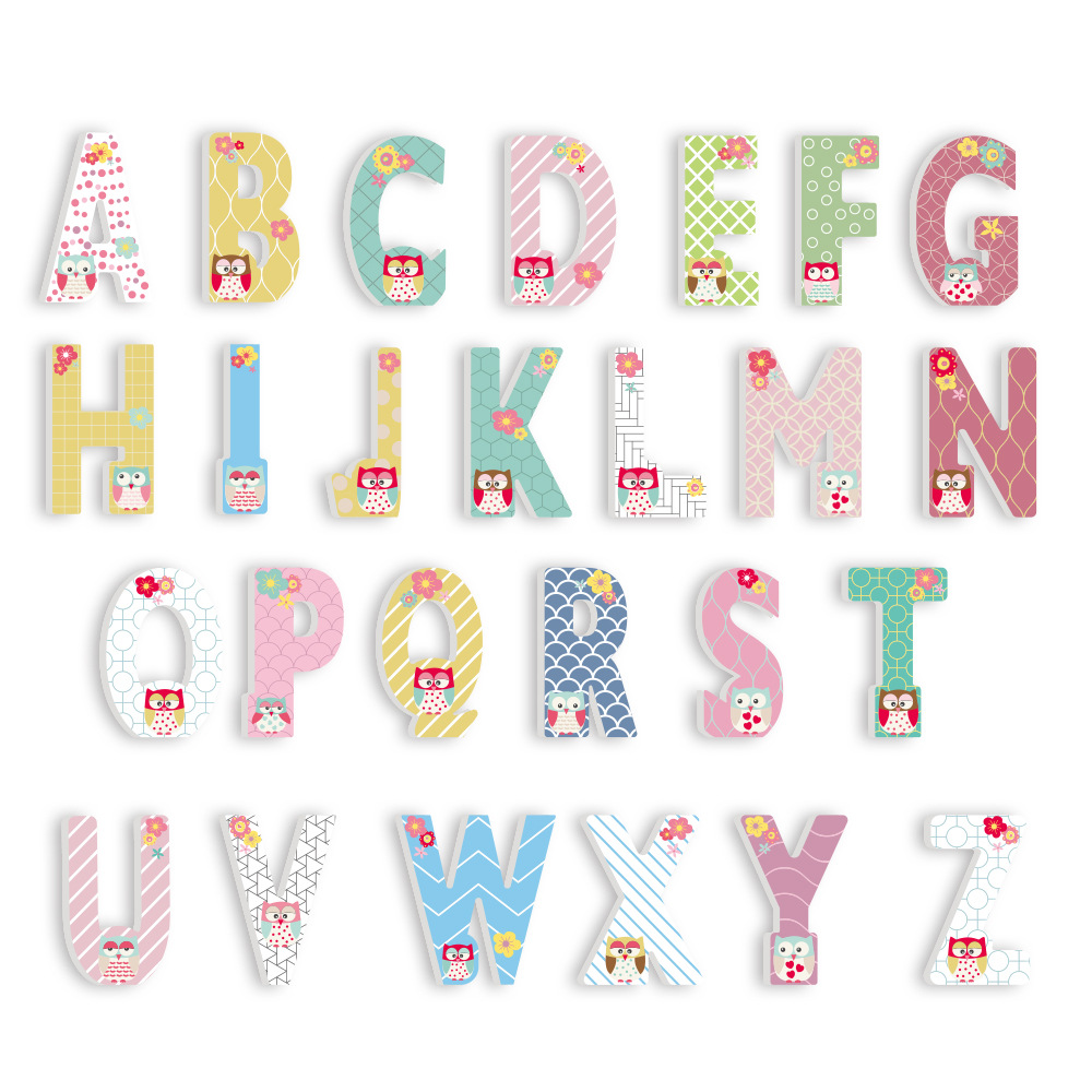 3D PVC  Kid's Room Decoration Letter Stickers Uppercase English Alphabet Letters Kindergarten Playground Nursery Decorative