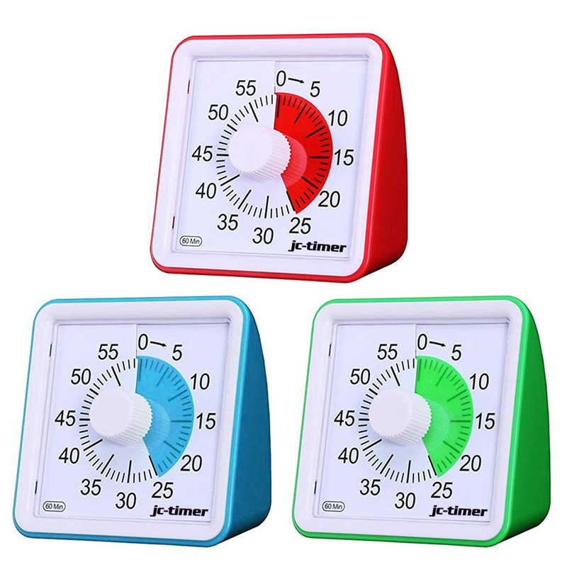 60 Minute Visual Timer Silent Time Management Tool For Classroom Conference Countdown For Children And Adults Home Using(China)