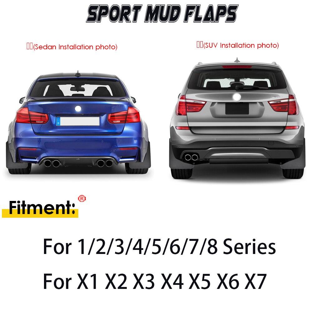 XUKEY Universal Mudflaps Mud Flaps Splash Guards Mudguards Fender Protector For 3 5 7 Series E30 E46 E90 F30 M3 E34 E60 E38 E65 M5 M7