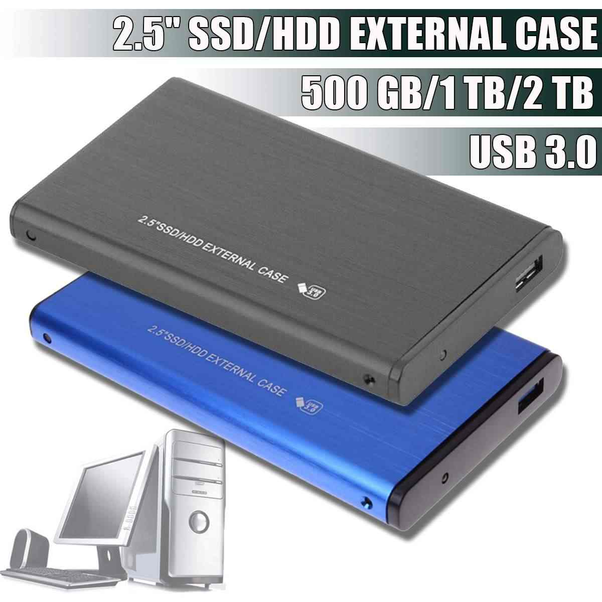 500G/1 TB/2 TB 2.5 ''Hard Drive Eksternal USB 3.0 Logam Warna HDD Portabel Eksternal HD Hard Disk untuk Desktop Laptop