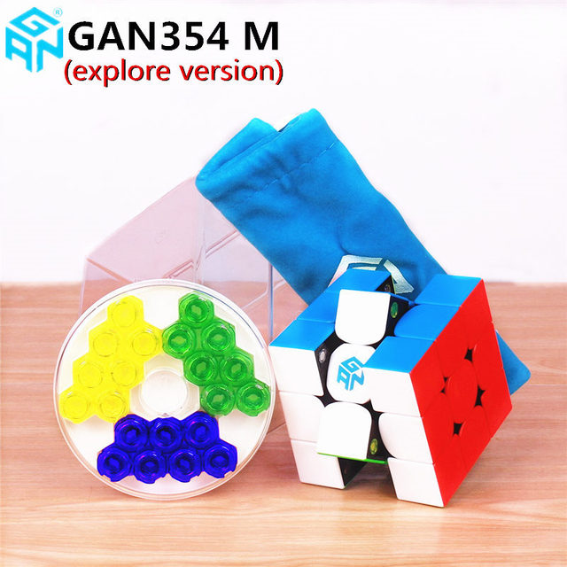 Gan354 M 3x3x3 Magnetic Magic Speed Cube Stickerless Gan 354 Professional Magnets Puzzle Speed Cube Educational Toy For Kid Gans