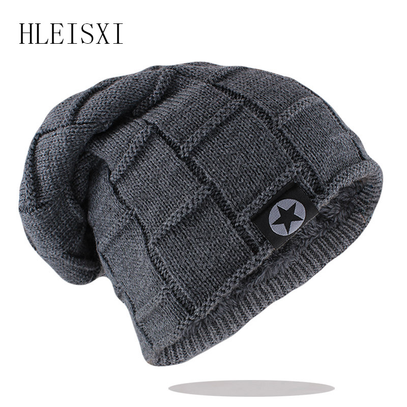 New Unisex Beanie Hat Knit Wool Warm Winter Hat Thick Soft Stretch Hat For Men And Women Fashion Skullies & Beanie