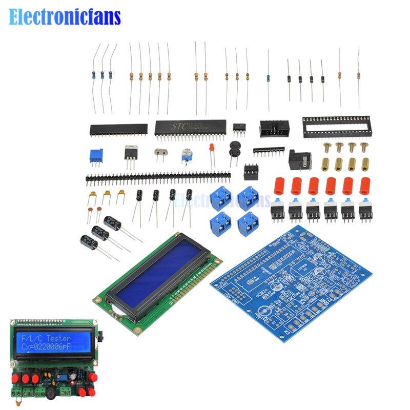 Medidor de inductancia de probador de condensador contador de frecuencia Digital LCD medidor de capacitancia probador Kit DIY 51 microcontrolador