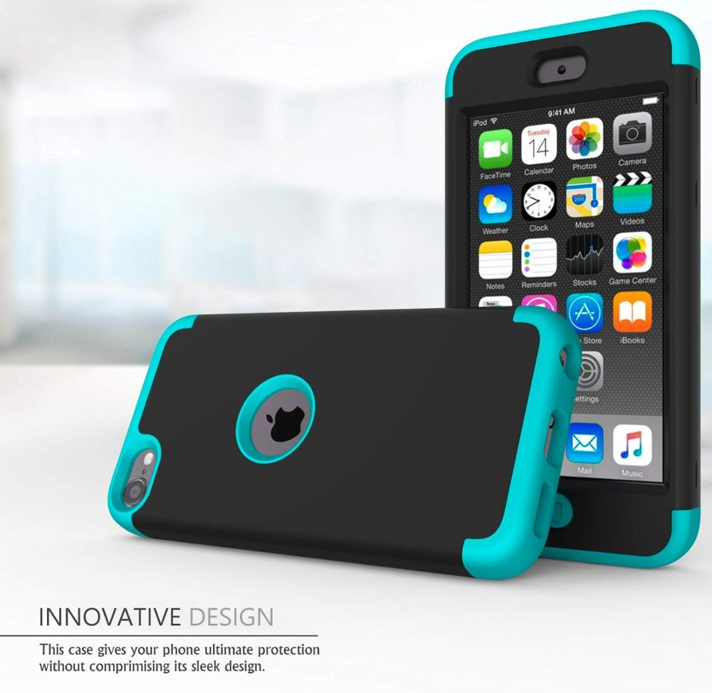 iPod Touch 7 / Touch 6 için Kılıf, Yüksek Etkili Ağır Darbeye - Cep Telefonu Yedek Parça ve Aksesuarları - Fotoğraf 6