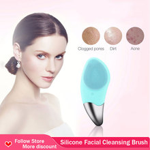 5 in 1 electric facial cleanser wash face cleaning machine skin pore cleaner body cleansing massage mini beauty massager brush Mini USB Electric face Facial Cleansing Brush Silicone Facial Cleaner Sonic Cleanser Deep Pore Cleansing Waterproof Skin Massage